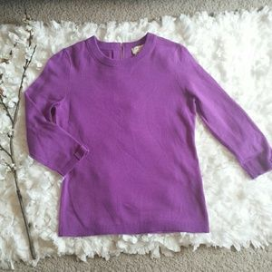 Kate Spade purple sweater wool/cashmere
